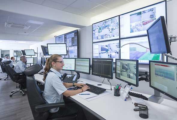 Die Notruf-Service-Leitstelle (NSL) der Vollmergruppe Dienstleistung.