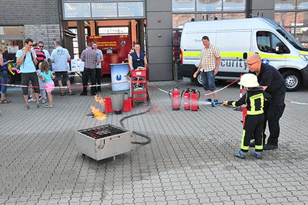 Vollmergruppe bei Feuerwehr hautnah