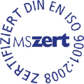 MSzert: zertifiziert DIN EN ISO 9001:2008.