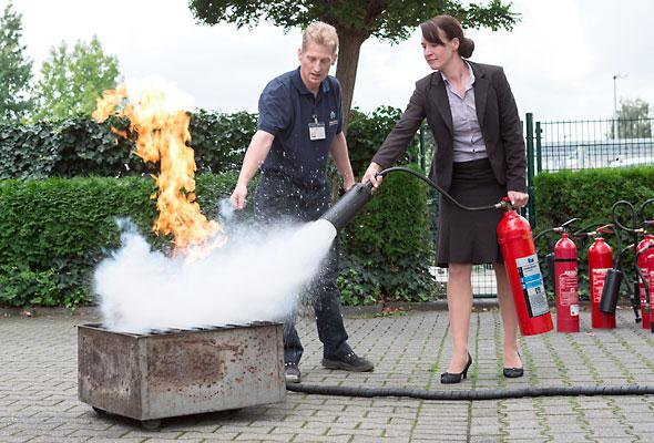Die Brandschutzunterweisungen der Vollmergruppe Security.